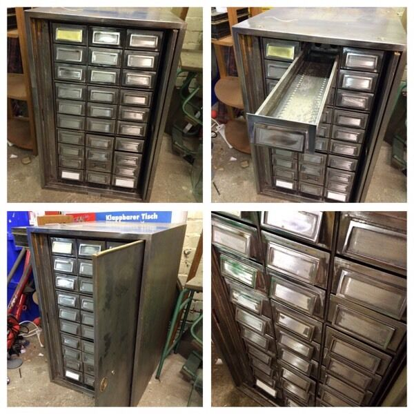 VINTAGE INDUSTRIAL MULTI DRAWER CHEST CABINET 30 DRAWER ...