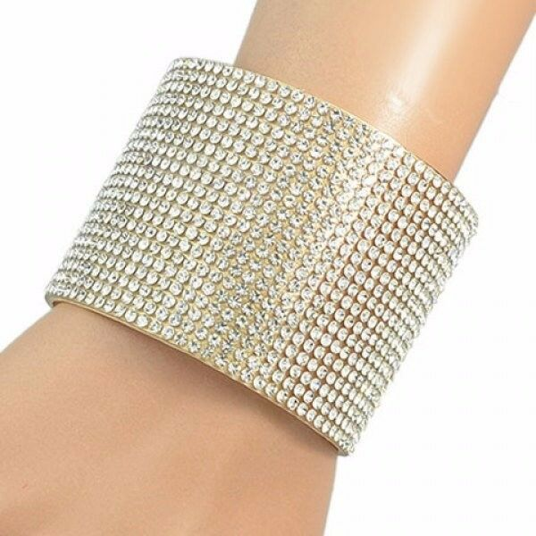 Vintage Alloy Rhinestoned Bracelet