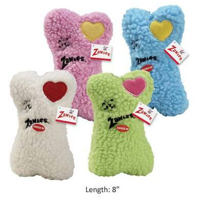 - Embroidered Heart Berber Bones Dog Toys Soft Bone Squeakers 8