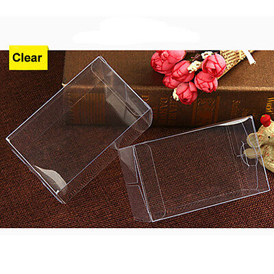 10 50PCS Rectangle Clear Plastic PVC Cake Wedding Favor Gift Candy Box 6x6xHcm - Cake Favor Boxes