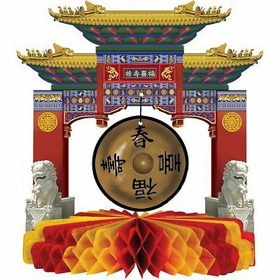 ASIAN GONG HONEYCOMB CENTREPIECE CHINESE NEW YEAR ORIENTAL PARTY DECORATION  - Chinese New Year Centerpiece Decoration