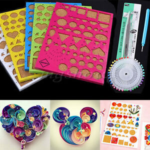 4 x Paper Quilling Board Template Slotted Craft Papercraft DIY Tools Kit Set Hot