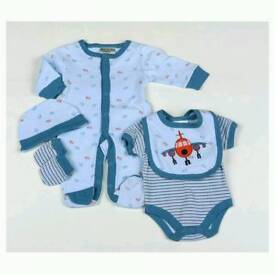 Baby Boys Aeroplane 5 Piece Net Bag Gift Set