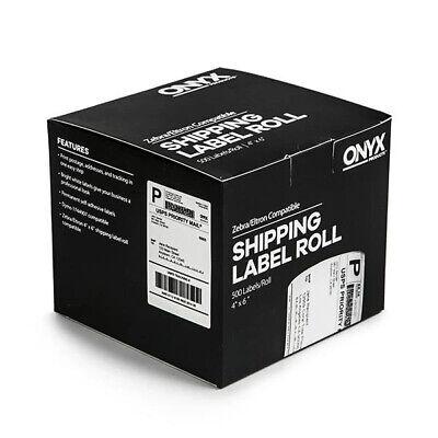 Stamps.com Onyx 4x6 Zebra Elton Compatible Direct Thermal Labels500 6 Boxes