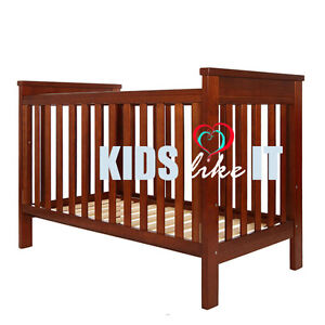 NEW Traditional Wooden BABY COT Crib Timber Toddler BED NZ Pine WHITE ONLY