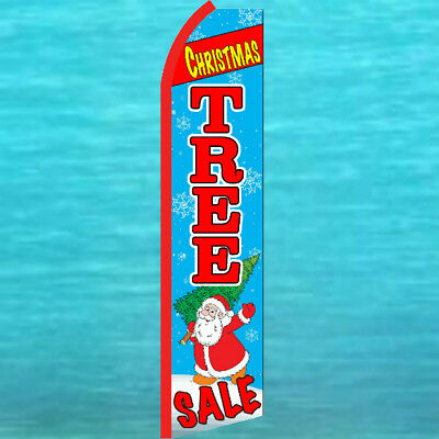 Christmas Tree Sale Feather Flutter Flag Advertising Sign Banner Swooper Bow
