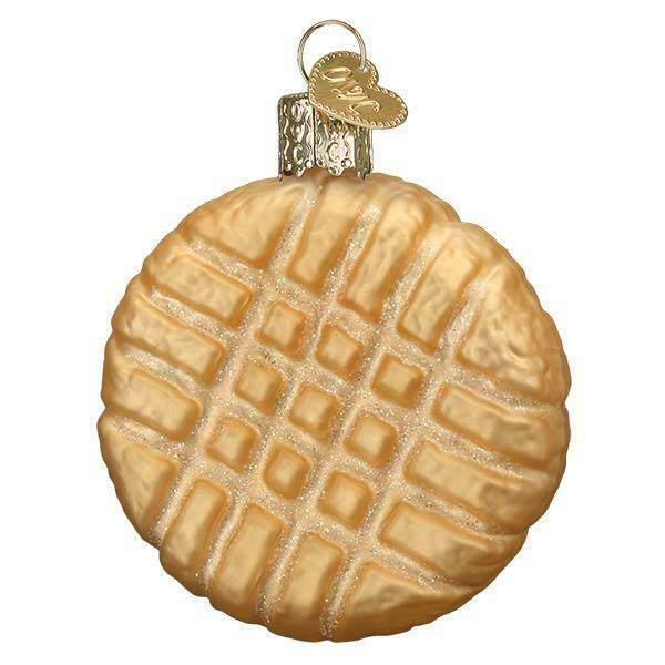 PEANUT BUTTER COOKIE OLD WORLD CHRISTMAS GLASS PASTRY SNACK ORNAMENT NWT 32410