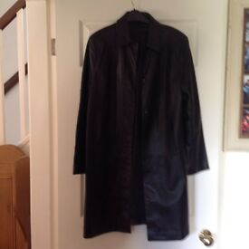Marks & Spencer's M & S Leather Coat Size 16
