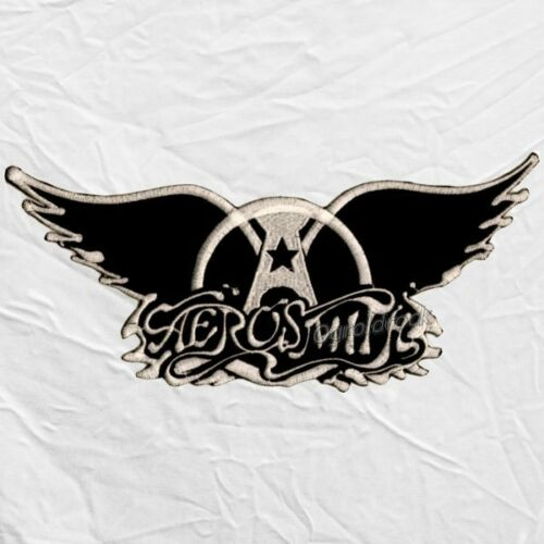 """Aerosmith Wings Logo Embroidered Big Patch Rock Band Steven Tyler Joe Perry 11"""""""