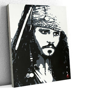Captain Jack Sparrow Original Acrylic Painting 1/1