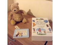 Winnie the Pooh teddy and book collection