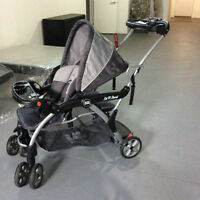 Deluxe Tandem Stroller Sit and Stand DX