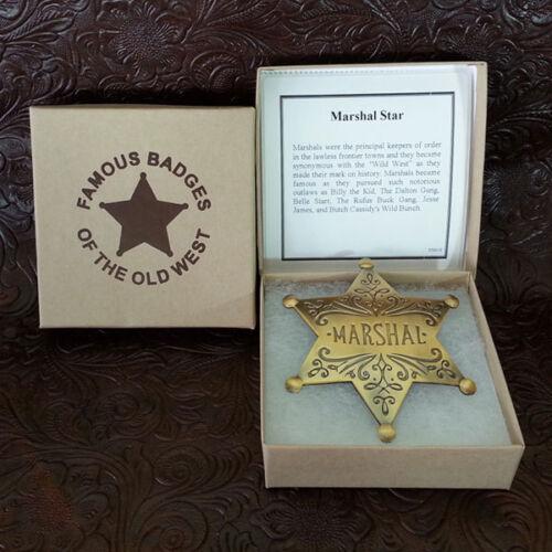 US Marshall Dress Badge--Brass-Replica