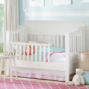 LIKE NEW  - Pottery Barn Toddler Larkin Bed AND Cot (2 in 1).