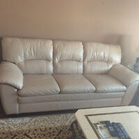 LUXURIOUS ALL LEATHER SOFA (MATCHING OVERSIZE CHAIR SOLD SEPERAT