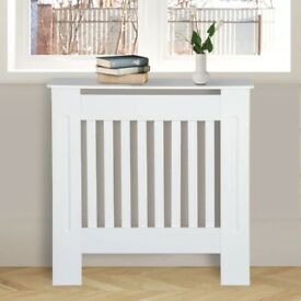 White Small MDF Radiator Cover New