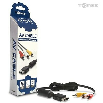 PS2 PS3 AV Cable with Video Audio Video RCA Composite Cable NEW (Retail Pack)