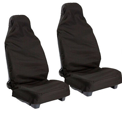 Water Proofed Seat Covers Occasional Use Black Cover Front for Audi A1 A2 A3 A4
