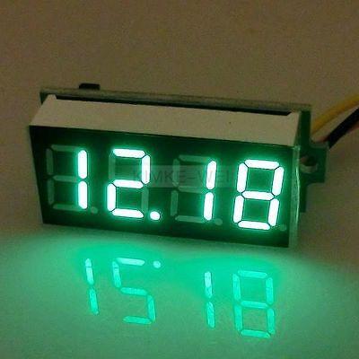 Dc 0-33v Green 0.36 Led 4 Digit Digital Voltmeter Voltage Panel Meter
