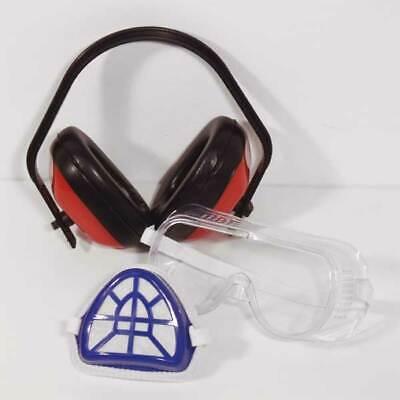 Mauk Schutzset Universal Gehörschutz Vollsichtbrille Schutzmaske Schutzbrille