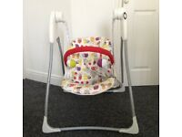 Baby Graco battery swinging chair