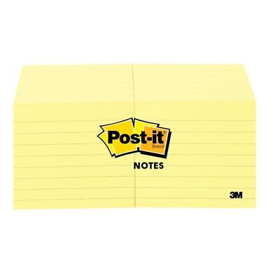 Post-it Notes Lined 3x3 100 Sheetspd 12pk Yellow