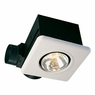 "Air King Bathroom Fan, 70 CFM w/ 1Bulb Lamp Heater for 4"" Du"