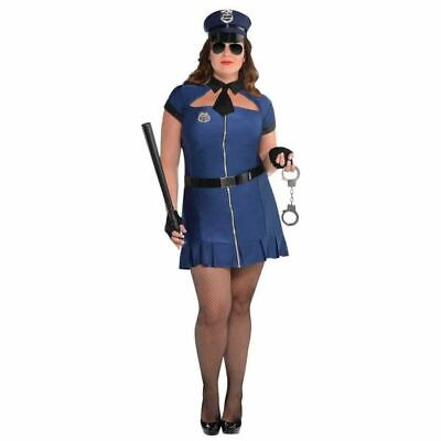 Ladies Bad Cop Fancy Dress Costume Police Woman Womens Outfit Plus Size 18-20
