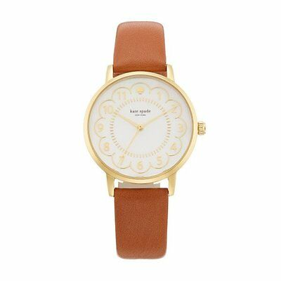 Kate Spade Mother of Pearl Dial Leather Band Quartz Ladies Watch 1YRU0835