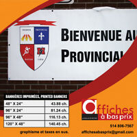 BANNIERE IMPRIMÉS A BAS PRIX/ PRINTED BANNERS AT LOW PRICE