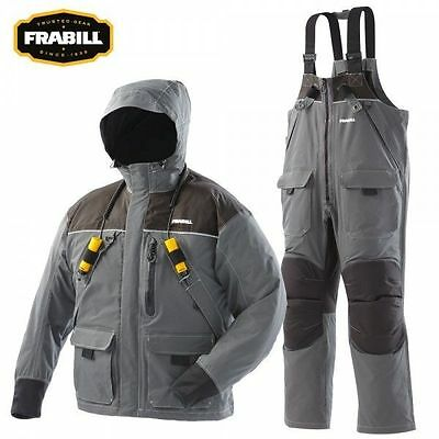 2112 Frabill I2 Series Ice Fishing Suit Jacket / Bibs Combo Dark Grey Large