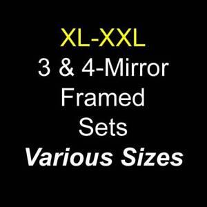 Various LARGE 3/4-MIRROR Framed Sets - Gym Dance Fitness Studio