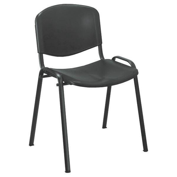 Jemini Multipurpose Polypropylene Stacking Chair Charcoal KF72369 [KF72369]
