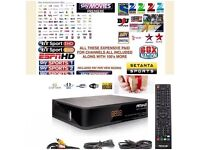 Satellite Amiko combo fully loaded box, 12 months Sub, BOXING PPV,kids,movies,Sports ,Asian Channels