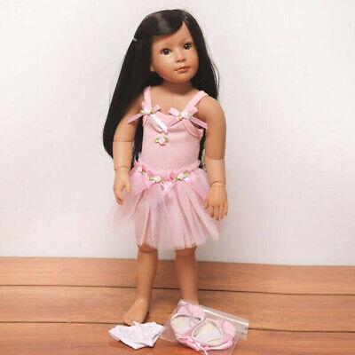 "Roxie, Ballerina - an 18"" Medium Skin Tone, Vinyl Jointed Doll by Kidz 'n' Cats"