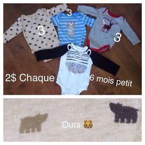 Vêtements 3-6 mois garçon (bébé avril)