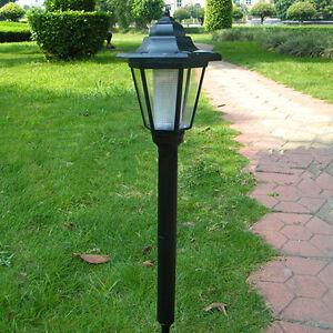 Tall led solar powered light waterproof garden yard path for Tall landscape lights