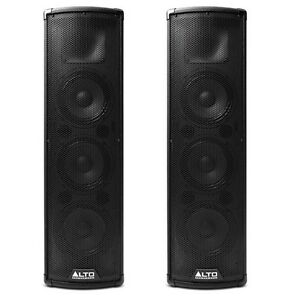 alto trouper compact active powered column dj pa speaker with bluetooth pair ebay. Black Bedroom Furniture Sets. Home Design Ideas