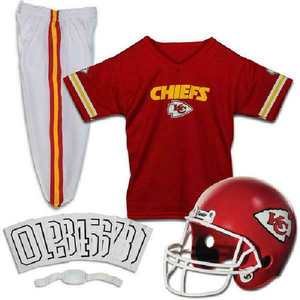 NFL Kansas City Chiefs Uniform Set Jersey Helmet Costume Was