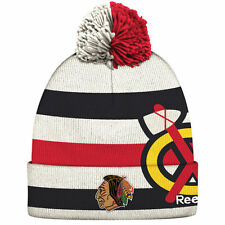 CHICAGO BLACKHAWKS 2017 NHL WINTER CLASSIC REEBOK CUFFED POM KNIT HAT TOQUE