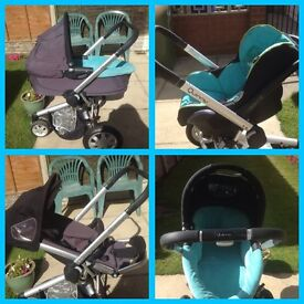 Quinny package , pushchair , pram , maxi cosy car seat - easy base