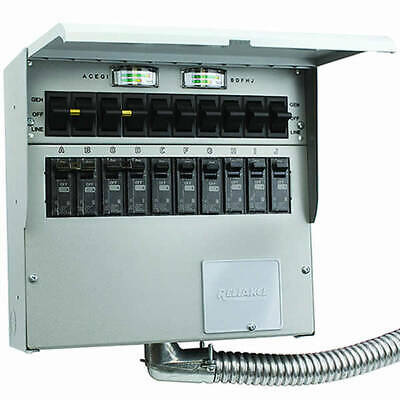 Reliance Controls Protran2 - 50-amp 120240v 10-circuit Indoor Transfer Sw...