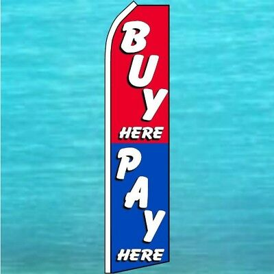 Buy Here Pay Here Flutter Flag Used Cars Advertising Sign Feather Swooper Banner