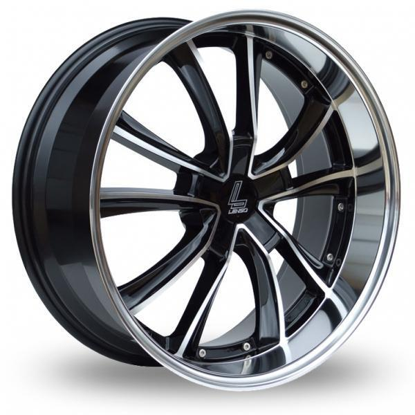 "18"" LENSO ES7 GLOSS BLACK POLISHED ALLOY WHEELS ONLY BRAND NEW 5X100 ET35 RIMS"