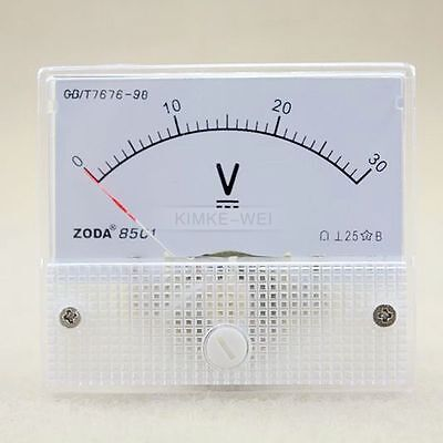 Dc 0-30v Analog Volt Voltage Panel Meter Voltmeter Gauge