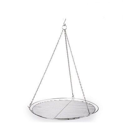 Grill - Rost für Schwenkgrill inox 50 cm, mit Reling, Schwenker - Edelstahl