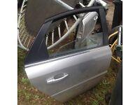 Vauxhall vectra c 2008 hatchback drivers side rear door complete star silver z157 07594145438