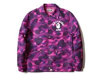 Bape purple coach jacket