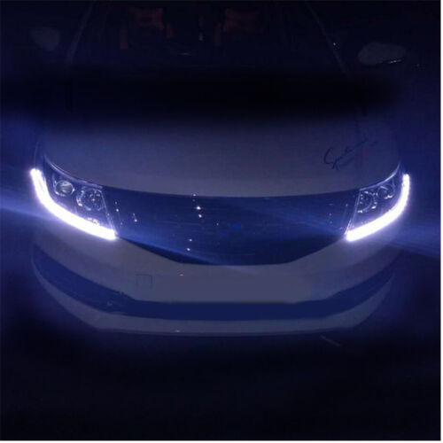 12V Dual Color Tearful Eyes LED Light Turn Signal Daytime Running Lights 8W