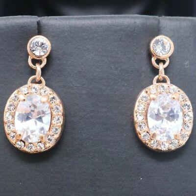 3 Stone Anniversary Earrings (Gorgeous 3 Ct White Moissanite Earrings Wedding Anniversary Jewelry Free Ship )